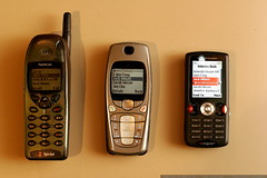 cell phone evolution - from nokia brick to sony-ericsson w810i - _MG_6192
