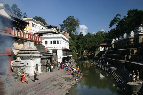 Pashupatinath Temple and cremation site...