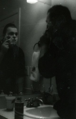 Attractive Man Shaving