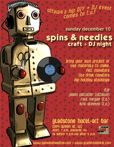 spins + needles poster