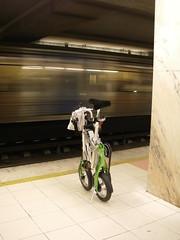 A Mobiky no Metro de Lisboa