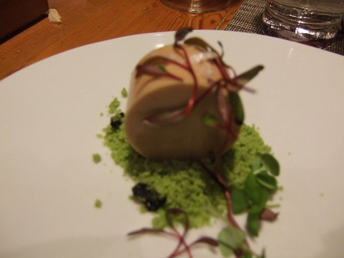 WD-50 (New York) - Foie w/ Beet, Candied Olives, Green Peas