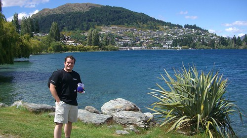 Pat and Squage at Lake Wakatipu