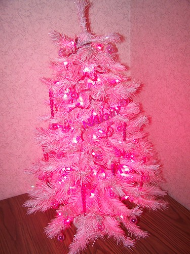 My Pink Christmas Tree in My Office