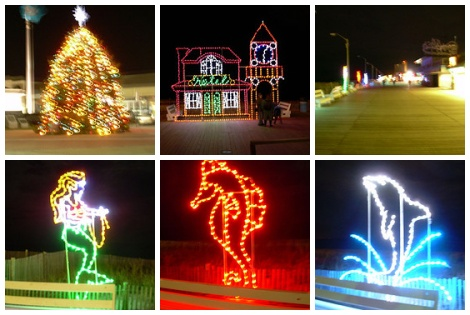 Rehoboth Boardwalk at Christmas time