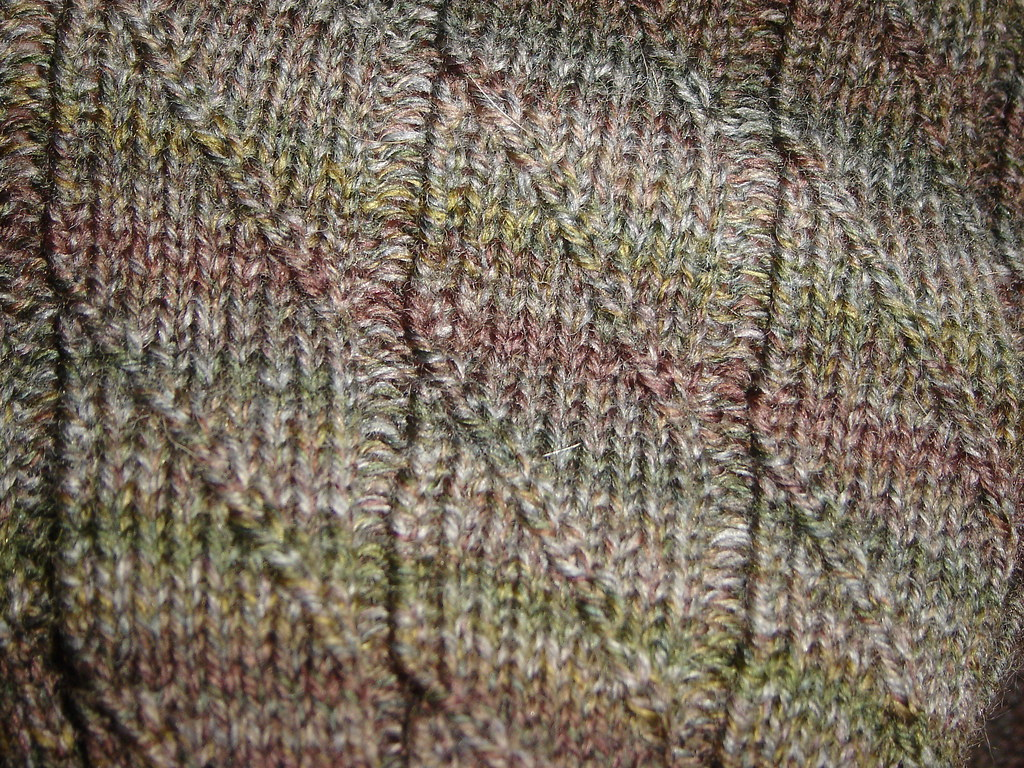 Close up of Diagonal Rib sock