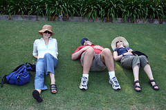 Resting at the Botanic Gardens