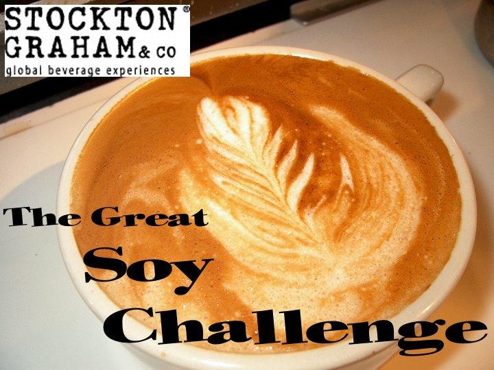 Soy latte art