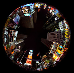 Times Square fisheye looking straight up photo by crowt59