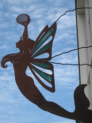 Mermaid sign on Friday Harbor's main drag -- San Juan Islands, Washington State