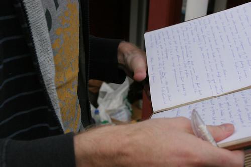 Skriving i hyttebok