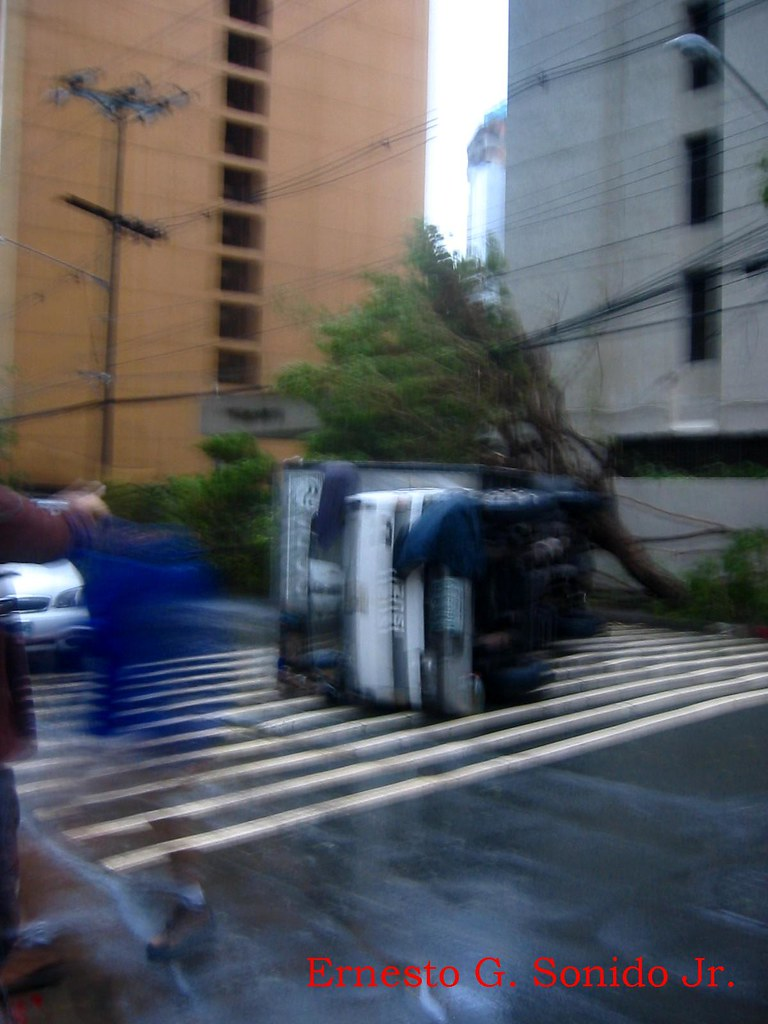 Truck Uprooted Blurred
