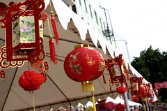 Under the Autumn Moon Festival lanterns