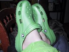 green crocs