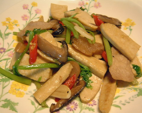 fried tofu with pork and taikoon