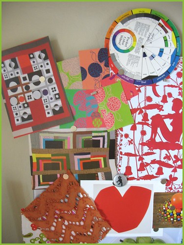 another close up of inspiration board
