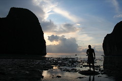 Sunset at Maya Bay