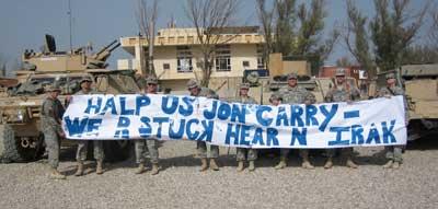 Troop send message to John Kerry
