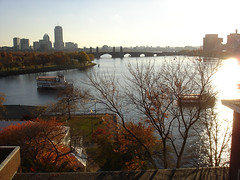 Boston Skyline from d'Arbeloff Suite at Boston Museum of Science