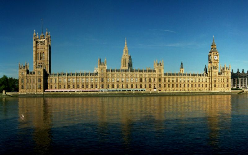 Houses of Parliament, also known as Palace of Westminser, in London