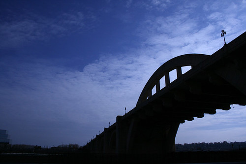 Robert Street Bridge silhouette