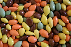 an alternative to M&Ms: chocolate covered sunflower seeds