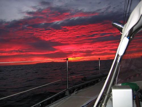 sunrise on the way to Bahia Tortugas