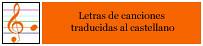 Letras de canciones traducidas al castellano