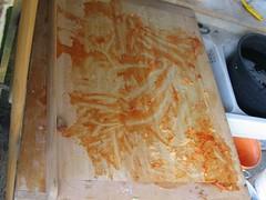 Polentata: il tagliere pulito