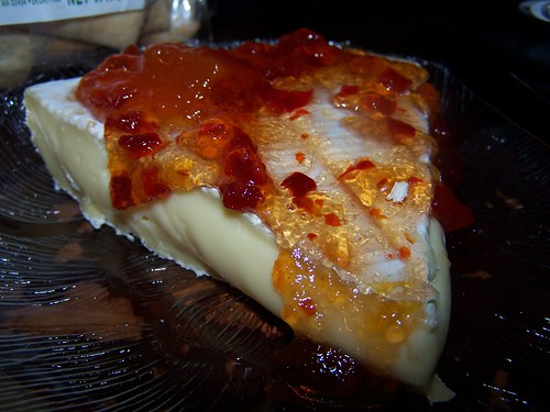 ... discover the best snack ever – brie w/ cranberry mango pepper jelly