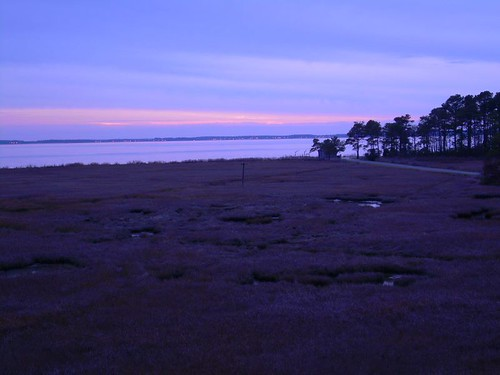 sunset on rehoboth bay