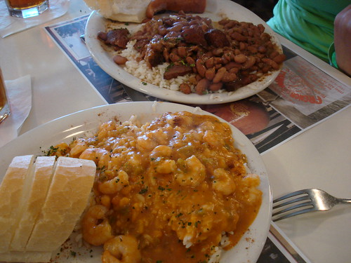 Shrimp Etouffee, Red Beans and Rice at French Market Restaurant