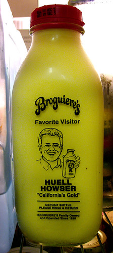 broguiere's eggnog and huell howser!