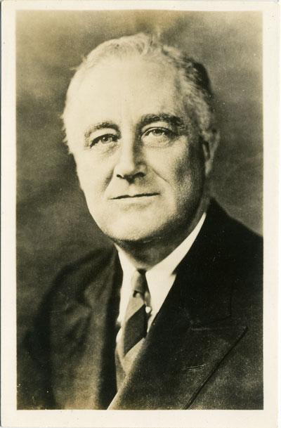 Postcard:  Franklin D. Roosevelt