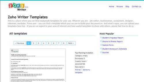 zoho-writer-templates-library