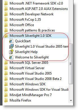 silverlight1.0_SDK_Menu