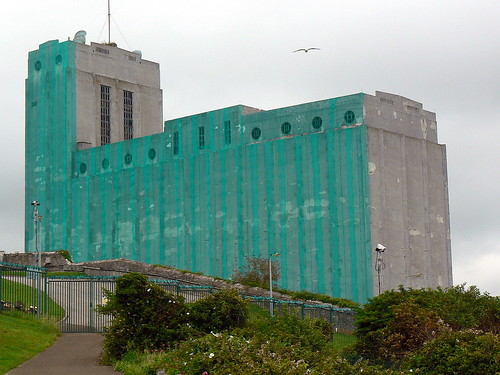 Grain Silo Millbay Docks Stonehouse Plymouth