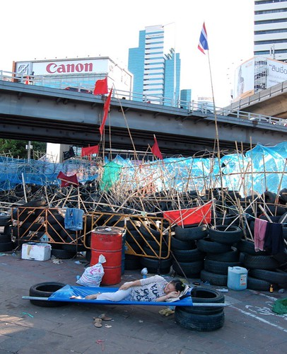 Barrier in Silom