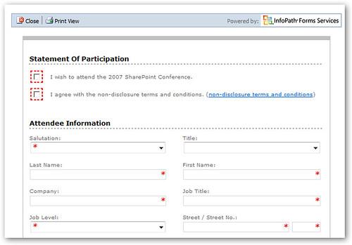SharePoint InfoPath Server