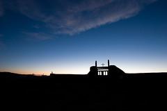 galisteo cemetery at dusk.