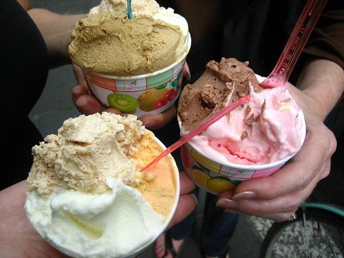 9 types of gelato, Cremeria Monteforte, Roma