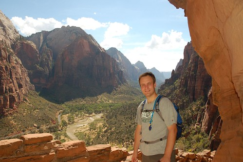 Scott at Zions Canyon