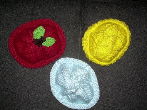 top view of baby hats