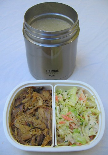 Soup and pulled pork lunch お弁当
