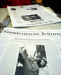 Newspapers at Wiener Kaffeehaus