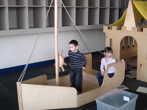 Dominic as Captain of the play boat
