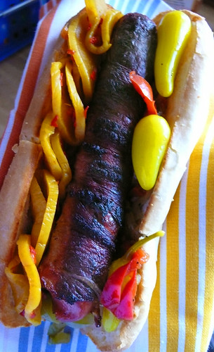 bacon wrapped hot dog