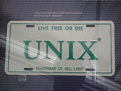 UNIX license plate