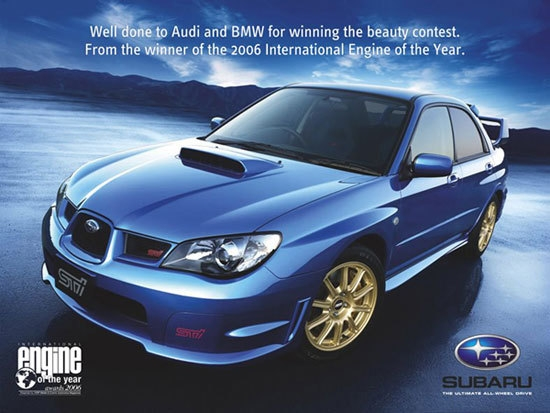 Competing Car Ads (Suburu)