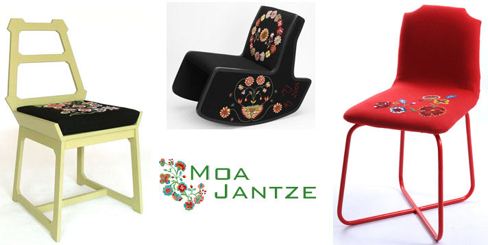 Moa Jantze Chairs - Folkloric Charm!